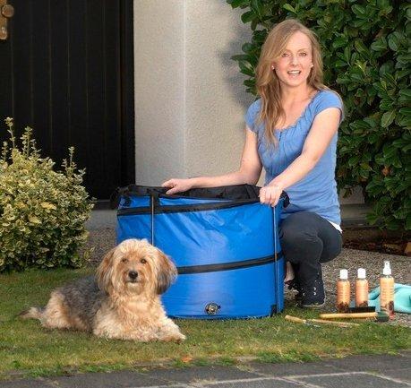 Hundebadewanne & Hundepool für kleine Hunde rund – bla…   04054502061782