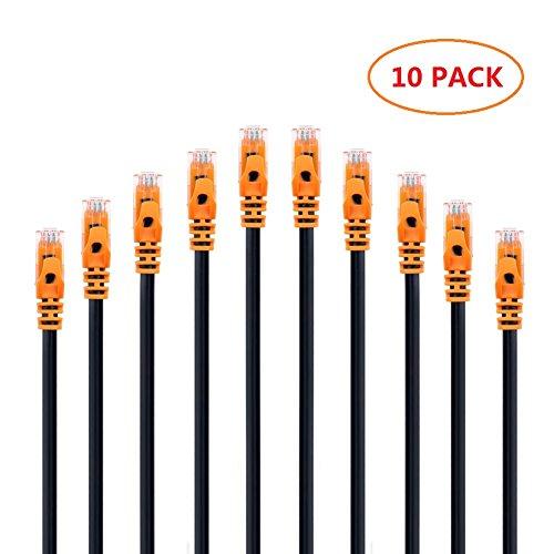 Die Besten Voip-router (CAT.6 Ethernet Netzwerkkabel, Vandesail® CAT6 RJ45 Gigabit Lan Netzwerk Patchkabel Snagless UTP (10pack*(10ft/3m), Orange))
