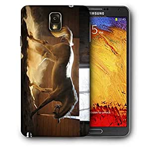 Snoogg White Horse Printed Protective Phone Back Case Cover For Samsung Galaxy NOTE 3 / Note III