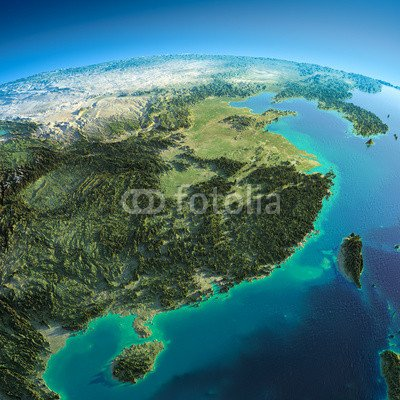 detailed-earth-eastern-china-and-taiwan-62202970-aluminium-dibond-100-x-100cm