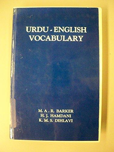 Urdu English Vocabulary Student Pronouncing Dictionary