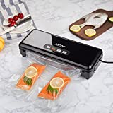 from Aicok Aicok Vacuum Sealer, 3 In 1 Automatic / Manual Food Sealer, One-Touch Vacuum Sealing System, Dry / Wet Vacuum Packing Machine with Cutter and Vacuum Roll, Black