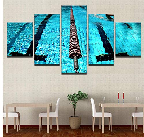 AREABP Immagine di Arte della Parete Cinque Pezzi Pittura Decorativa HD Decorazioni per La Casa Moderne Palestra Pittura per Artigianato Piscina Arte Poster-FrameB
