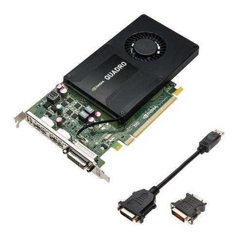 PNY NVIDIA QUADRO K2200 professionelle Grafikkarte 4 GB GDDR5 PCI-Express 4K 2 x DP + DVI (VCQK2200-PB) Gaming-nvidia Quadro