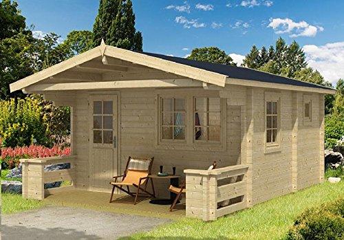 gartenhaus sauna pekka 70 iso blockhaus 445x445cm 70mm. Black Bedroom Furniture Sets. Home Design Ideas