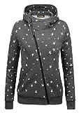 Yidarton Winter Damen Hoodie Sweatshirt Sterne Muster Kapuzenpullover (X-large, Grau-Stern)