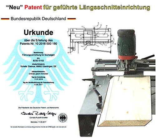 Stichsägetisch Trenn-Biber 012L+ Bosch Metabo Festool u. 3 lange Holz T-Schaft Stichsägeblätter für Stichsägen als Laminat Schneider, Sägestation - 4