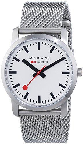 Sbb-uhr Die (Mondaine Unisex-Armbanduhr SBB Simply Elegant 36mm Analog Quarz A400.30351.16SBM)