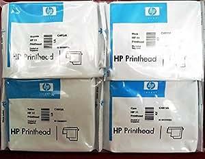 Hewlett-Packard HP 11 Lot de 4 têtes d'impression C4810A/C4811A/C4812A/C4813A pour HP Business InkJet 1100, HP DesignJet 100/110Plus, HP OfficeJet 9110/9120/9130