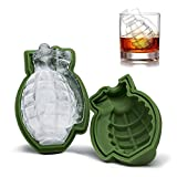 Three Co 3D Grenade Shape Ice Cube Mold, silicone cake Mold, Ice Cream Trays Mold for Great bar party Gift e utensili da cucina
