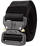 """ALAIX Heavy-Duty Cobra Tactical Belt Strong Quick-Release Big and Tall 1.5"""" wide Black"""