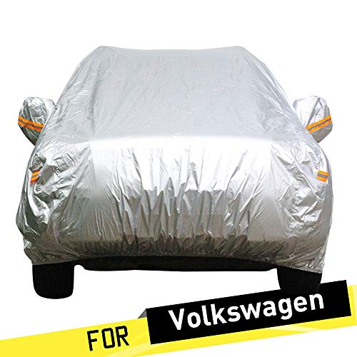 ERQINGCZ Wasserdichte Autoabdeckung Auto Abdeckung Sun Anti Uv Schnee Regen Schutz Abdeckung Für Vw Volkswagen Santana Phaeton Käfer Jetta
