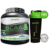 #10: Naturyz Instantized BCAA ENERGY BLAST 7000 BCAA's, Glutamine, Citrulline, Beta Alanine & Electrolyte Blend in 2:1:1 ratio for the complete Intra-Workout supplement, (Blueberry Mojito Flavor) - 450gms with a FREE SHAKER