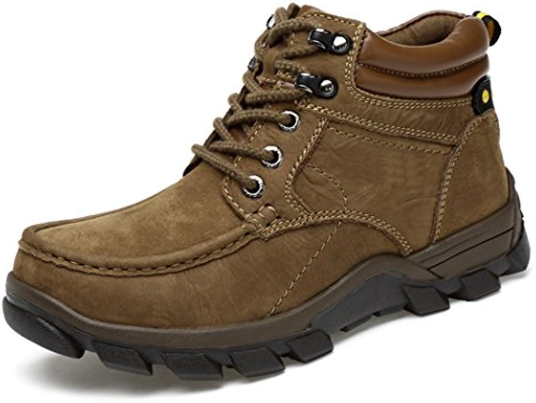 HHY Komfortabel und breathableWinter helfen warme Outdoor Schuhe anti große Herren Wanderschuhe Schlupf