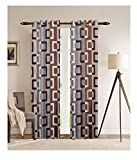 #6: Italian Fab (Set of 2) Suprimo Multi Check Boxes Polyester Curtains (Door- 7 Feet)