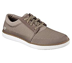 Skechers Mens Lanson Revero Sneaker Oxfords Tan Knitted Mesh 11 D(M) US