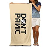 qicaiyangg LCYC Don't Panic Logo Adult High Quality Beach Or Pool Hooded Towel 80cm*130cm