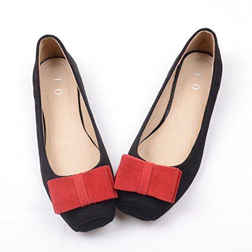 WYMBS 2017 Nouveau chaussures unique en Europe et aux États-Unis leopard side suede chaussures chaussures occasionnels proue flat shoes chaussures plates des femmes célibataires Leopard