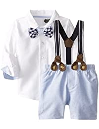 Mud Pie Baby-Boys Chambray 3 Pc Suit Set (3T, Multi)