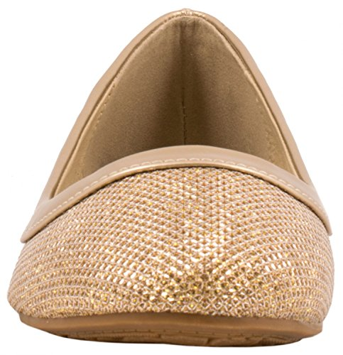 Elara - Pantoufles En Dames Dorées