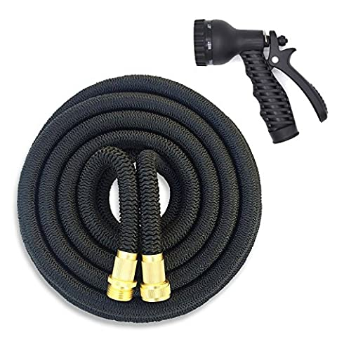 Little World Expandable Garden Hose Heavy Duty 32-Ply 3 Layer
