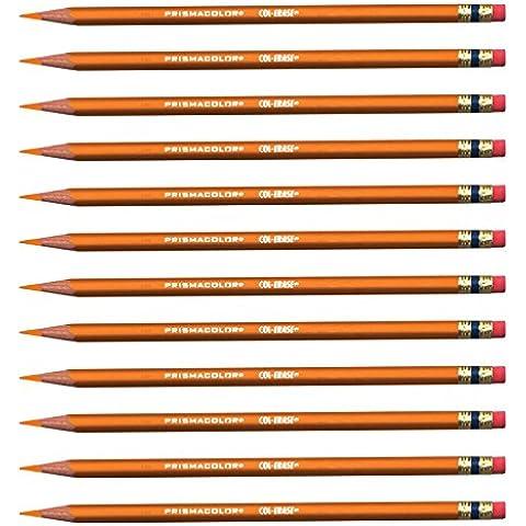 Prismacolor Col-Erase cancellabile-Matita colorata, confezione da 12, colore: arancione