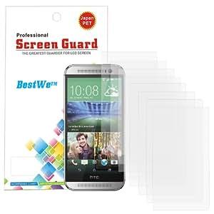 8 X Bestwe Displayschutzfolie für HTC One M8 (Modell 2014) Schutzfolie Folien