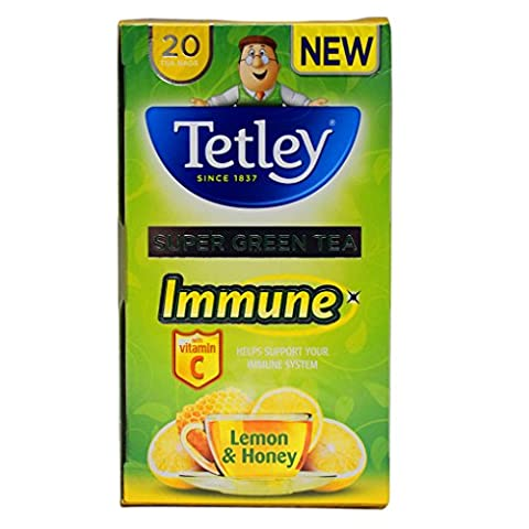 Tetley Super Green Tea Immune Lemon & Honey - 2 x 20s