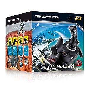 Thrustmaster T.Flight Stick X, Joystick mit Rudersteuerung, umprogrammierbaren Tasten und Achsen, Drehgriff…