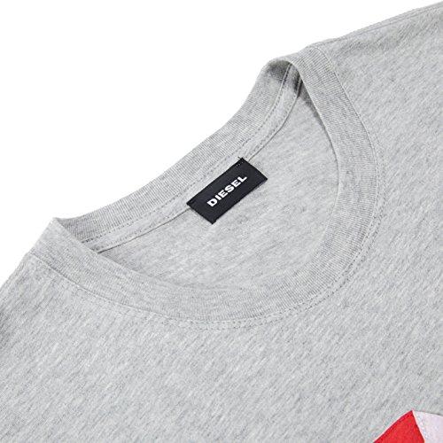 Diesel Herren T-Shirt Grau (Heather/Grey 912)