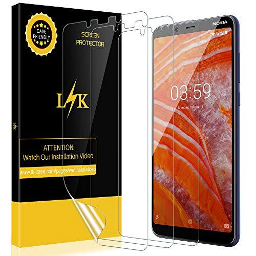 KundL [3 stück LK Schutzfolie für Nokia 3.1 Plus (Premium-Qualität) Bildschirmschutzfolie Anti-Bubble [volle Abdeckung] HD Klar Folie [Lebenslange Ersatzgarantie]