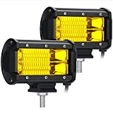YGL Fendinebbia, 2 X 72 W Giallo Osram Flood Led Barra Luminosa Fuoristrada Impermeabile IP67 Per ATV Truck Snow 12V / 24V