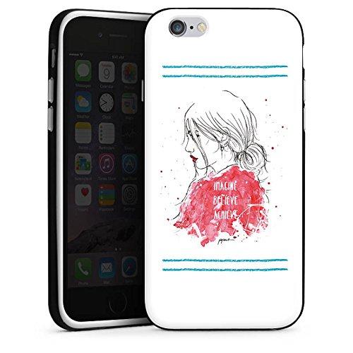 Apple iPhone X Silikon Hülle Case Schutzhülle Comic Frau Zeichnung Silikon Case schwarz / weiß