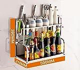 XWG Küche Edelstahl-Regal, Küche Gewürze Ständer, Küchenzubehör Küchenregal aus (Farbe : 3#)