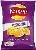 Walkers Worcester Sauce Crisps 32.5 g (Pack of 32)