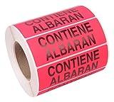Pryse - Mod. 1040010 - Etichetta Adesiva 'Contiene Albaran' (Contiene Bolla di Consegna) - Lingua Spagnola
