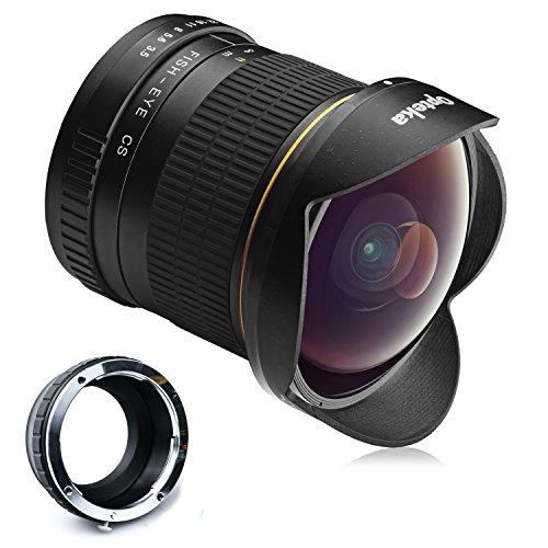 Opteka Objetivo de ojo de pez con lente asférica, HD, 6,5 mm f/3,5, con tapa desmontable para cámaras digitales sin espejo Sony NEX E-Mount a7r, a7s, a7, a6000, a5100, a5000, a3000, NEX-7, NEX-6, NEX-5T, NEX-5N, NEX-5R y 3N
