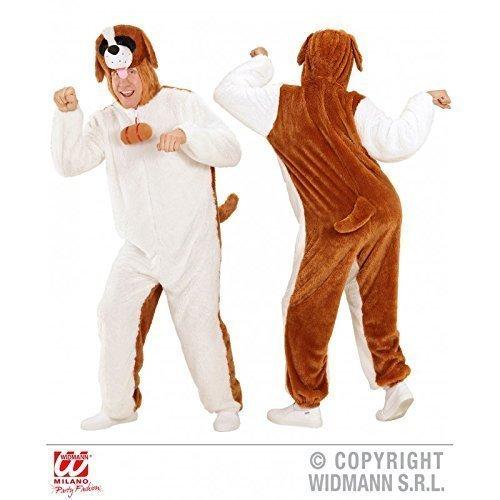 MONO bernadiner / Perro / plüschiger MONO CON CAPUCHA TALLA XL ( H 190 cm) / Disfraz adulto Carnaval