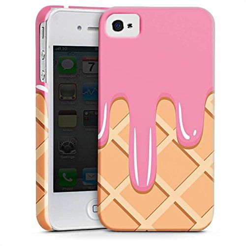 Apple iPhone X Silikon Hülle Case Schutzhülle Eis Waffel Eiscreme Premium Case glänzend