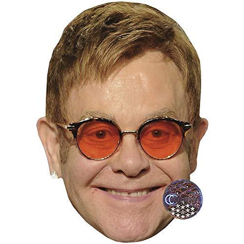 Celebrity Cutouts Elton John (Orange Glasses) Big Head.
