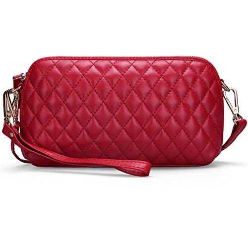 Luxury Fashion Lingge Chain Messenger Donna Borsa Donna Europea E Americana Rossa