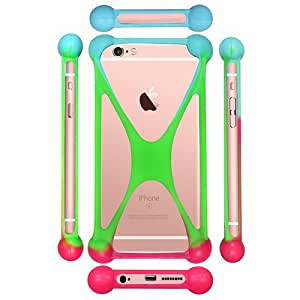 Casotec Universal Silicone Bumper Frame Soft Gel Phone Case Cover for Samsung Galaxy Note Edge - Multicolor