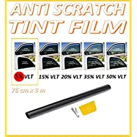 ANTI-SCRATCH CAR VAN WINDOW TINT FILM SUPER DARK LIMO BLACK 5% 76cm x 3M