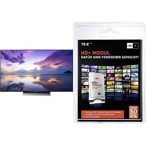 Preisvergleich Produktbild Sony KD-55XD8005 139 cm (55 Zoll) Fernseher (4K HDR, Ultra HD, Smart TV)+ HD PLUS CI+ Modul für 6 Monate (inkl. HD+ Karte, optimal geeignet für UHD, nur für Satellitenempfang) Bundle