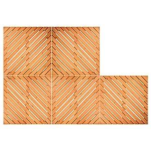 Protenrop PK448 Set de Tarimas, Madera, Marrón, 18x50x50 cm, 6 Unidades