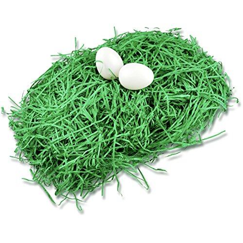 TK Gruppe Timo Klingler 40gr. Ostergras Gras für Deko Dekoration an Ostern klassisch grün Osternest Nest Beutel für Ostereier Eier