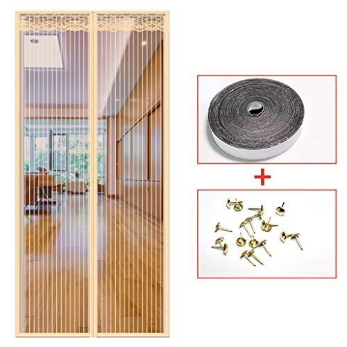 ACDRX Magnetische Tür, magnetisches Netzgewebe, Insektenschutztür aus feuerfestem Fiberglas, französische Tür, Insektenschutzgitter, 85 * 210cm/33.5 * 82.7in