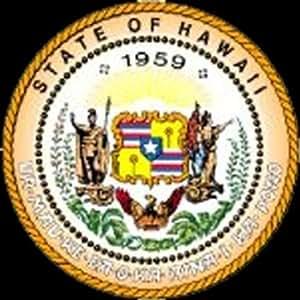 Autocollants/autocollant pour voiture JDM la rigide–Hawaii Hi State Seal Bumper Stickers 101mmx101mm