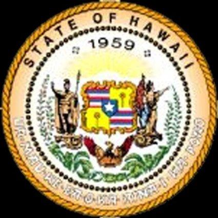 INDIGOS UG Aufkleber Autoaufkleber JDM Die Hart - Hawaii HI State Seal Bumper Sticker 101mmx101mm