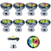 MyArmor 10pcs Colorful splendido cristallo manopola cassetto armadio tira maniglia